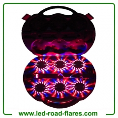 Red Blue Duo Colours 6-Packs Rechargeable Led Road Flares