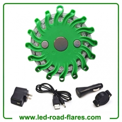 Green Rechargeable LED Road Flares|Safety Flares|Emergency Flares