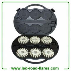 6 Packs Rechargeable Led Road Flares White