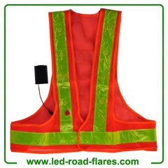 China Led Safety Reflective Vest High-Visibility Reflective Led Safety Vest with 16 lights Suppliers and Manufacturer