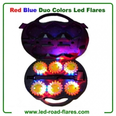 Red Blue 6 Packs Led Flares Rechargeable