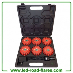 6-Pack Red 24 LED Rechargeable Led Power Flares Led Road Flares