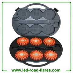 6 Packs Rechargeable Led Road Flares Red
