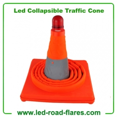 "Led Collapsible Traffic Road Safety Cones 28"" Inch Led Collapsible Pop Up Cones"