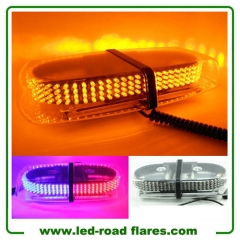 240 LEDs Car Auto Rooftop Flashing Strobe Emergency Vehicle Warning Police Lights Bars Shell Yellow Amber