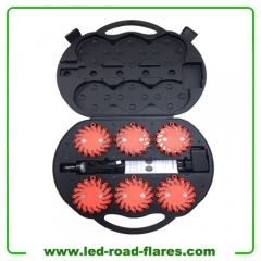 China 6 Packs Rechargeable Led Road Flares Red
