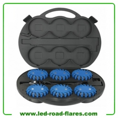 Rechargeable Led Road Flares 6 Packs Led Traffic Warning Lights