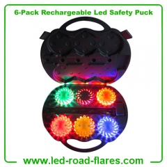 China 9-in-1 6-Pack Rechargeable Led Safety Puck Light Manufacturer Supplier Factory