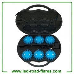 Rechargeable Led Road Flares 6 Packs Blue