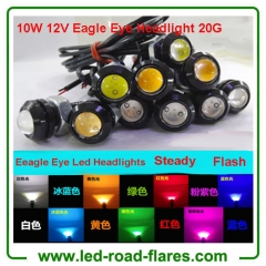 China Car Led Eagle Eye Headlights Car Parking Lights Eagle Eye Led Lights 23mm 12V 24V 10W Waterproof Manufacturer Supplier Factory