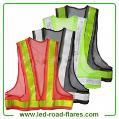 High Visibility Cheap Mesh Safety Vest Black Red Green Gray