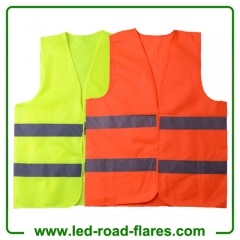 Yellow Red High Visibility Reflective Safety Vest