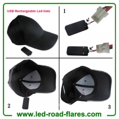 USB Rechargeable LED Baseball Caps LED Hats