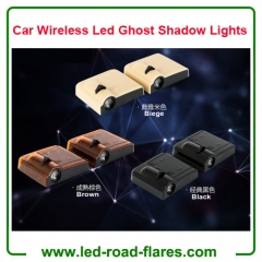 Automobile Car Wireless Led Ghost Shadow Lights Car Door Logo Laser Projector Lights Lamps Black Biege Brown