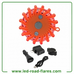 Red Best Led Road Flares Kits Rechargeable