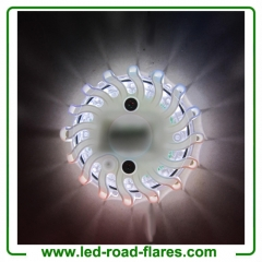 6 Packs White Led Road Flares Rechargeable