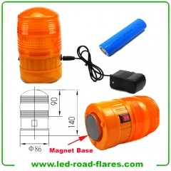 Car Rechargeable Led Beacons Vehicle Led Strobe Safety Beacons Light With Magnetic Base